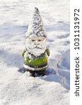 Gnome In Winter Snow
