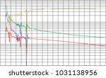 decline curve analysis graph... | Shutterstock .eps vector #1031138956
