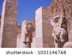egypt  funerary temple of... | Shutterstock . vector #1031146768