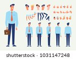 front  side  back view animated ... | Shutterstock .eps vector #1031147248