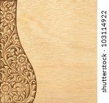 pattern of wood frame carve... | Shutterstock . vector #103114922