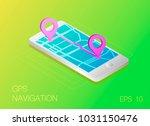 gps map navigation app on...   Shutterstock .eps vector #1031150476