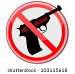 no guns .vector | Shutterstock .eps vector #103115618