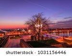 clock tower at petrovaradin... | Shutterstock . vector #1031156446