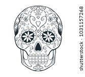 Sugar Skull Doodle Sketch ...
