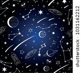 vector pattern with cosmic... | Shutterstock .eps vector #1031162212