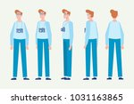 young man for animation. front  ... | Shutterstock .eps vector #1031163865