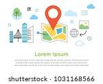 location travel navigation... | Shutterstock .eps vector #1031168566