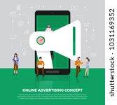 flat design concept advertising ... | Shutterstock .eps vector #1031169352