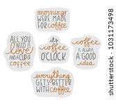 set with cute coffee theme... | Shutterstock .eps vector #1031173498