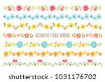 set of colorful decorative... | Shutterstock .eps vector #1031176702