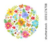colorful round shape made from... | Shutterstock .eps vector #1031176708