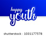 youth day. 12 august. happy... | Shutterstock .eps vector #1031177578