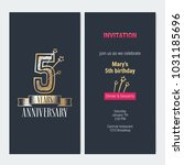 5 years anniversary invitation... | Shutterstock .eps vector #1031185696