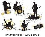 illustration of musicians | Shutterstock .eps vector #10311916
