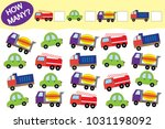 how many objects of transport.... | Shutterstock .eps vector #1031198092