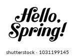 hello  spring  black... | Shutterstock .eps vector #1031199145