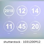 days hours minutes seconds ... | Shutterstock .eps vector #1031200912