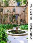 Small photo of Europe, Spain, Balearic Islands, Mallorca, Valldemossa. The Royal Carthusian Monastery, Real Cartuja. Fountain.