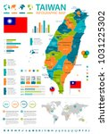 taiwan  infographic map and... | Shutterstock .eps vector #1031225302