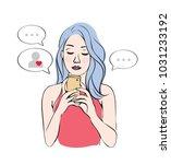online romance through dating... | Shutterstock .eps vector #1031233192