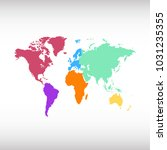 world map. europe asia america... | Shutterstock .eps vector #1031235355