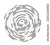 circular interrupted lines.... | Shutterstock .eps vector #1031236402