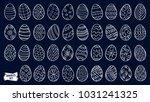 easter eggs doodle set. spring... | Shutterstock .eps vector #1031241325