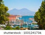 napoli bay  naples bay  ... | Shutterstock . vector #1031241736