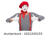 Happy Mime Showing Thumbs Up...