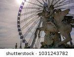 ferris wheel in paris | Shutterstock . vector #1031243782