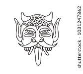 daemon illustration traditional ... | Shutterstock .eps vector #1031247862