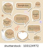 speech bubbles   scrapbook... | Shutterstock .eps vector #103124972