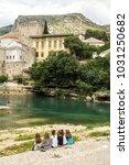 mostar  bosnia and herzegovina  ... | Shutterstock . vector #1031250682