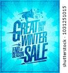 great winter sale vector poster | Shutterstock .eps vector #1031251015