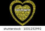 black lives matter word cloud... | Shutterstock .eps vector #1031252992