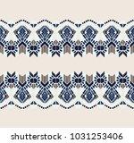 ikat geometric folklore... | Shutterstock .eps vector #1031253406