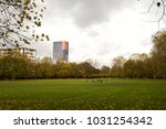 meadow in a city park in cologne | Shutterstock . vector #1031254342
