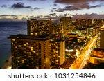 night skyline of resort area | Shutterstock . vector #1031254846