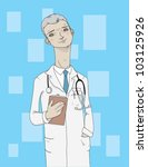male doctor | Shutterstock .eps vector #103125926