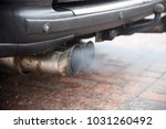 double exhaust from an older... | Shutterstock . vector #1031260492