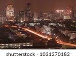 bangkok night view with... | Shutterstock . vector #1031270182