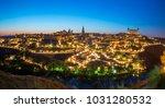 panoramic of toledo spain at... | Shutterstock . vector #1031280532
