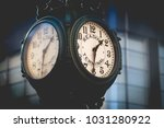 large clock on a city street in ... | Shutterstock . vector #1031280922