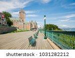 wood plank walkway quebec... | Shutterstock . vector #1031282212