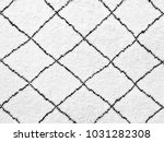 white rug with black lines.... | Shutterstock . vector #1031282308