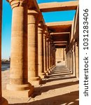 columns of philae temple  aswan ... | Shutterstock . vector #1031283406