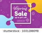 spring sale colorful abstract... | Shutterstock .eps vector #1031288098
