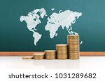 graph coins stock finance and...   Shutterstock . vector #1031289682