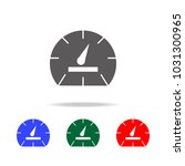 speedometer icon. elements in...